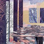 Contrepoint B, 2013, estampe et mousse, 30,5 X 30,5 X 3 cm
