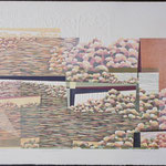 Densité, pluralité, 1992, bois gravé, gaufrure, chine collé, 60 X 76 cm
