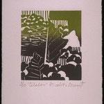 Cédalon, 1997, bois gravé, gaufrure, 18 X 13 cm