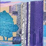 Contrepoint P, 2013, estampe et mousse, 30,5 X 30,5 X 3 cm