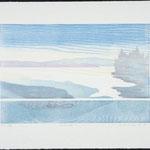 Intremède, 1985, bois gravé, 52 X 67 cm
