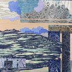 Contrepoint H, 2013 estampe et mousse, 30,5 X 30,5 X 4,2 cm