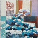 L'émergence, 1995, bois gravé, gaufrure, 41 X 31 cm