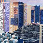 Contrepoint O, 2013, estampe et mousse, 30,5 X 30,5 X 3cm