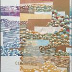 Couleur du temps jadis, 1994, bois gravé, gaufrure, chine collé, 61 X 51 cm