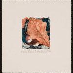 Ardeur, 1999, collagraphie, rehaussée au crayon de couleur, 20 X 19 cm
