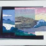 Point du jour, 1988, bois gravé, 62 X 82 cm