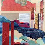 Contrepoint I, 2013 estampe et mousse, 30,5 X 30,5 X 4,2 cm
