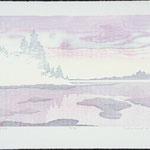 Mirage, 1985, bois gravé, 58 X 77 cm