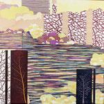 Contrepoint G, 2013, estampe et mousse, 30,5 X 30,5 X 4,2 cm