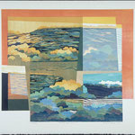 Lieux et temps mémoire, 1991, bois gravé, 72 X 81 cm