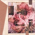 Ochidacée IX, 2012, collagraphie et mousse, 10 X 10 X 4 cm