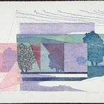 Fragments, 1987, bois gravé, 57 X 77 cm