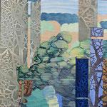 Contrepoint L, 2013, estampe et mousse, 30,5 X 30,5 X 4,,2 cm