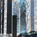 Contrepoint R, 2013, estampe et mousse, 40,5 X 30,5 X 4,2 cm