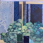 Contrepoint A, 2013, estampe et mousse, 30,5 X 30,5 X 3 cm