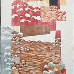 Au soleil levant, 1995, bois gravé, gaufrure, 80 X 61 cm