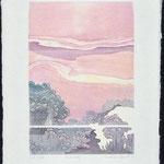 L'Étincelle, 1986, bois gravé, 68 X 52 cm