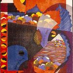 Le souffle du soleil, 1998, bois gravé, 66 X 51 cm