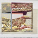 Trait d'union, 1991, bois gravé, 72 X 81 cm
