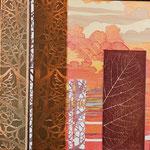Contrepoint J, 2013, estampe et mousse, 30,5 X 30,5 X 4,2 cm