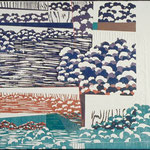 Bruissement, 1994, bois gravé, gaufrure, chine collé, rehaussé, 41 X 51 cm