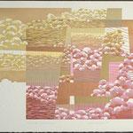 Doux temps, doux printemps, 1993, bois gravé, gaufrure, rehaussé, 53 X 76 cm