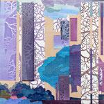 Contrepoint K, 2013, estampe et mousse, 30,5 X 30,5 X 4,2 cm