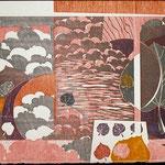 Alternance, 1997, bois gravé, 47 X 81 cm