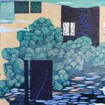 Contrepoint D, 2013, estampe et mousse, 30,5 X 30,5 X 3 cm