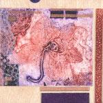 Orchidacée II, 2012, collagraphie et mousse, 10 X 10 X 4 cm