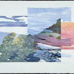 Ouverture, 1987, bois gravé, 59 X 77 cm