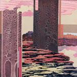 Contrepoint M, 2013 estampe et mousse, 30,5 X 30,5 X 4,2 cm