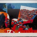 Célébration, 1998, bois gravé, 55 X 81 cm