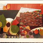Passage, 1998, bois gravé, 53 X 76 cm