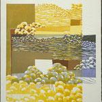 Le temps s'éveille et s'anime, 1993, bois gravé, gaufrure, 80 X 61 cm