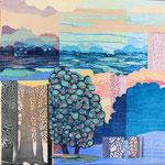 Contrepoint N, 2013, estampe et mousse, 30,5 X 30,5 X 4,2 cm