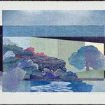 Espace -temps, 1988 bois gravé, 57 X 77 cm