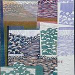 Aube d'octobre, 1994, bois gravé, gaufrure, chine collé, 61 X 46 cm
