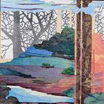 Contrepoint F, 2013, estampe et mousse, 30,5 X 30,5 X 4,2 cm