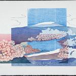 En effervescence, 1987, bois gravé, 59 X 79 cm