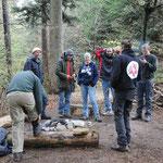 Ausbildung im Camp der Survivalschule