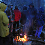Abendstimmung im Survival Camp