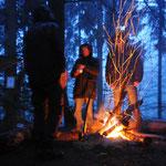 Das Feuer unser Überleben im Norden
