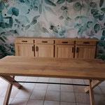 Relookage + modification piétement table et portes buffet APRES