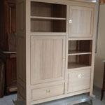 Petite armoire chêne massif aspect brut