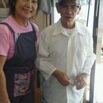 登川誠仁さんと母