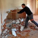 Abriss und Bauarbeiten