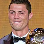 Las lágrimas de Cristiano Ronaldo al recibir el Balón de Oro 2013.
