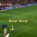 Descripción gráfica del Bale vs Bartra en la final de la Copa del Rey.
